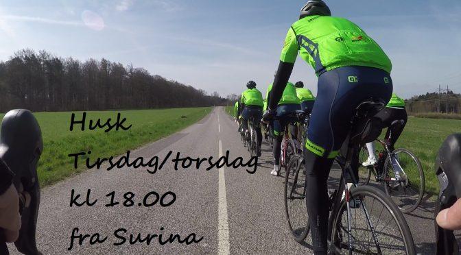 Husk nye tider tirsdag/torsdag kl. 18.00 fra Surina